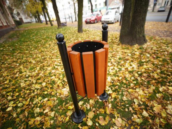 kosz parkowy Londyn zdjęcie w parku malaarchitektura.info.pl
