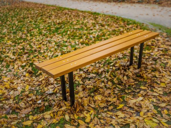 parkowa ławka stalowa ST1 zdjęcie w parku jesienią malaarchitektura.info.pl